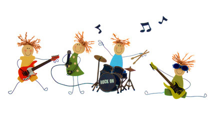 band cartoon